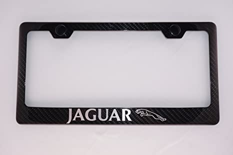 Amazon.com: Jaguar Carbon Fiber License Plate Frame With Cap: Automotive