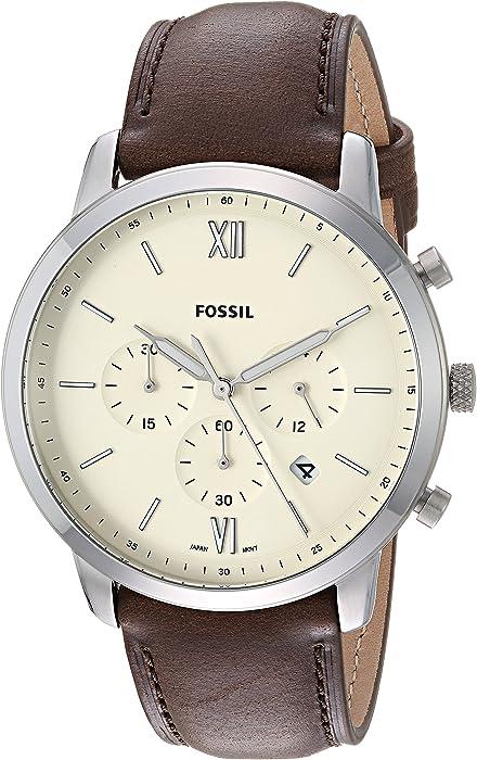 Fossil Reloj Cronógrafo para Hombre de Cuarzo con Correa en Cuero FS5380