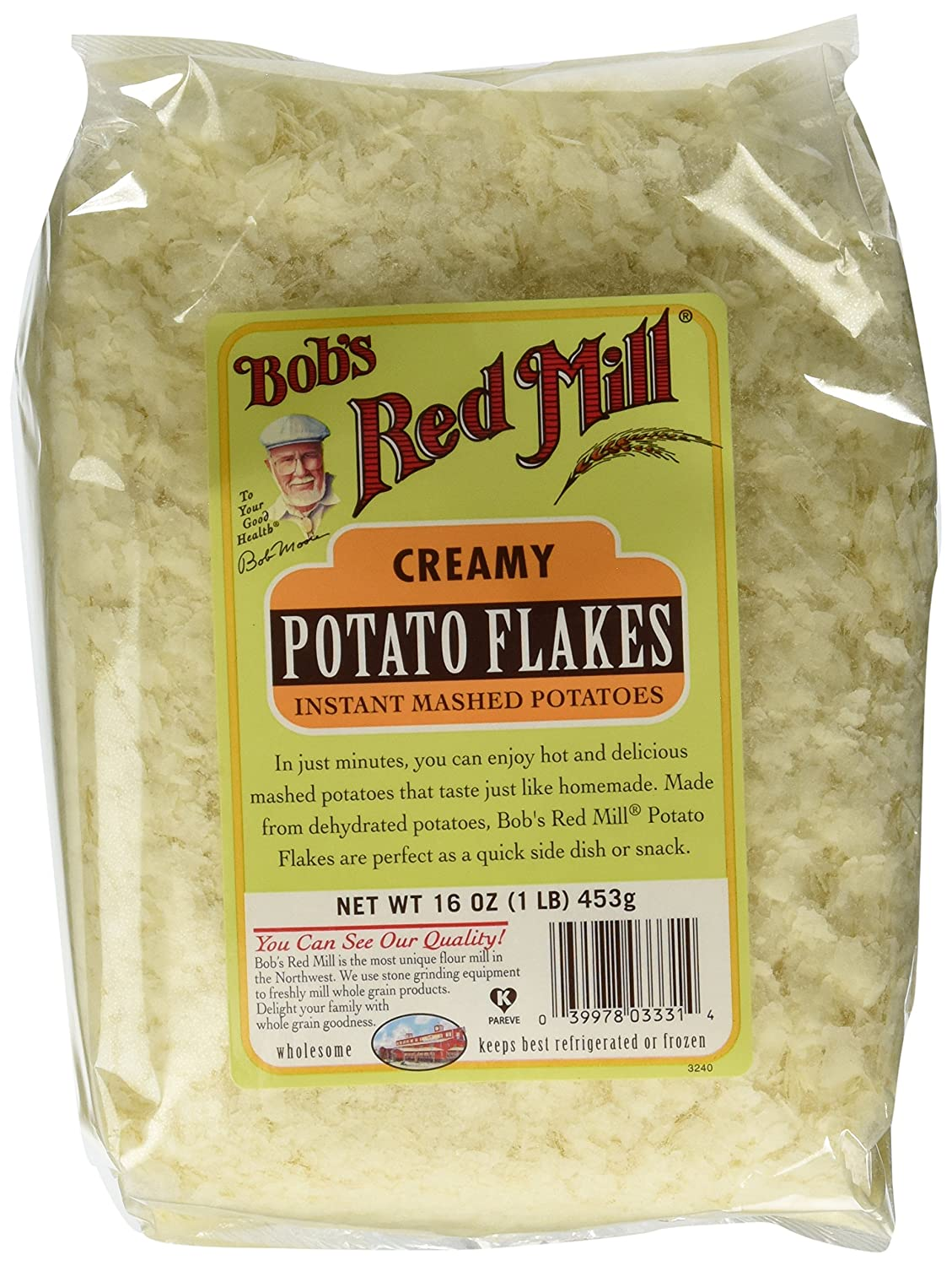 Amazon Com Bob S Red Mill Potato Flakes 16 Ounce Pack Of 4 Gourmet Seasoned Coatings Grocery Gourmet Food