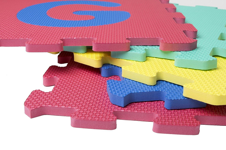 Deliawinterfel tappeto jigsaw puzzle per bambini con lettere e