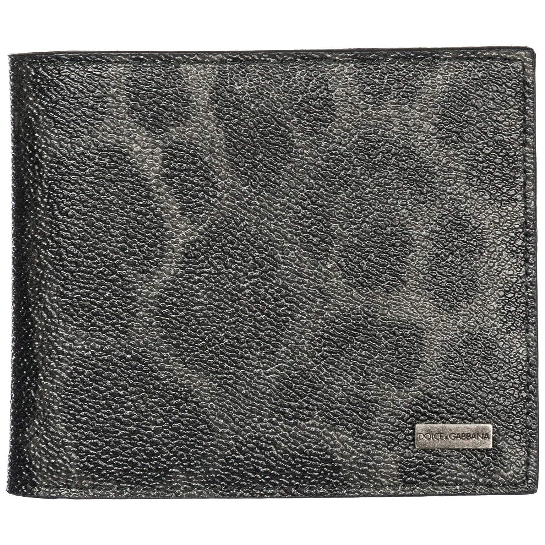 Dolce & Gabbana メンズ ブラックレザー 二つ折り財布 BP1321 A73591 8B836 B07DS4VZS6