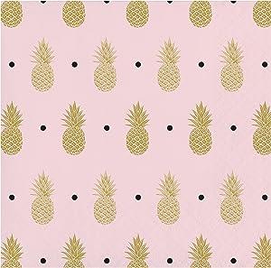 Golden Pineapple Beverage Napkins, 48 ct