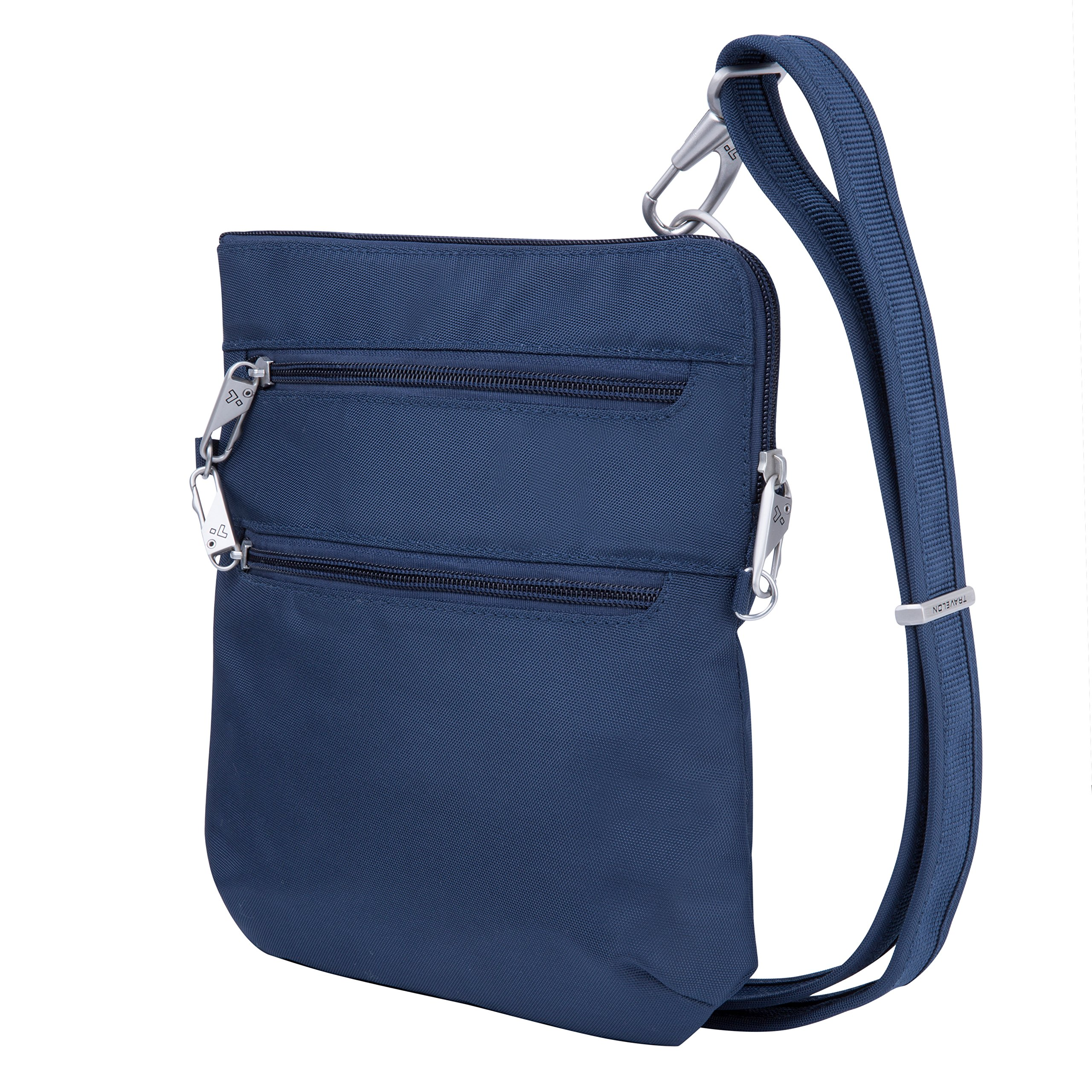 Travelon Anti-Theft Classic Slim Dbl Zip Crossbody Bag, Midnight by Travelon (Image #1)