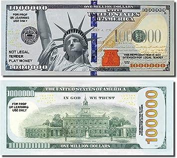 Set of 100 Bills Happy Birthday Million Dollar Bills Makes a Fun Birthday Gift