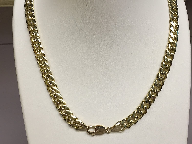 f29efec8b3741 14k Solid Yellow Gold Miami Cuban Curb Link 28