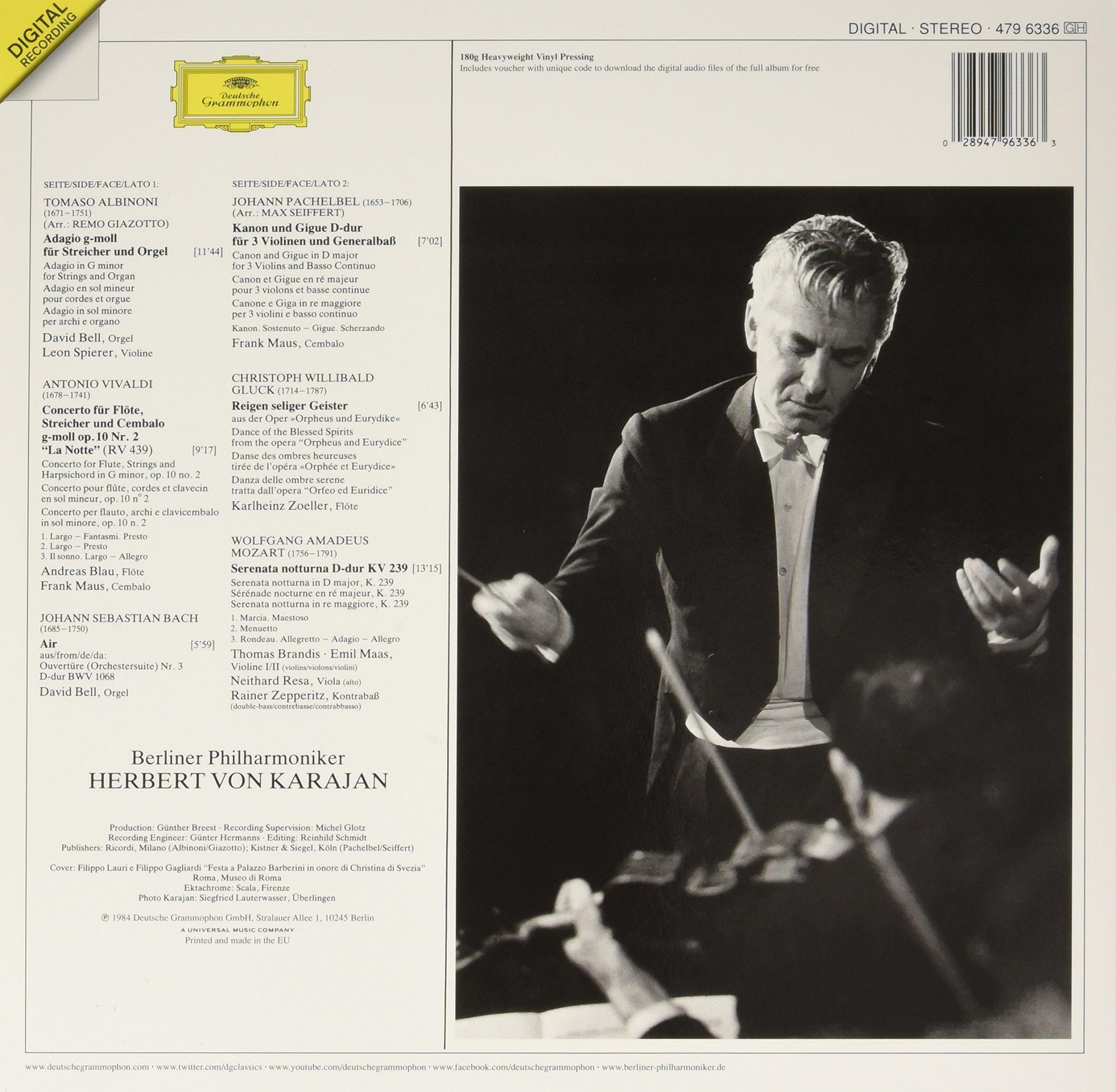 Albinoni: Adagio;  Pachelbel: Canon; Bach: Air: Vivaldi: La Notte; Moz [LP] by VINYL