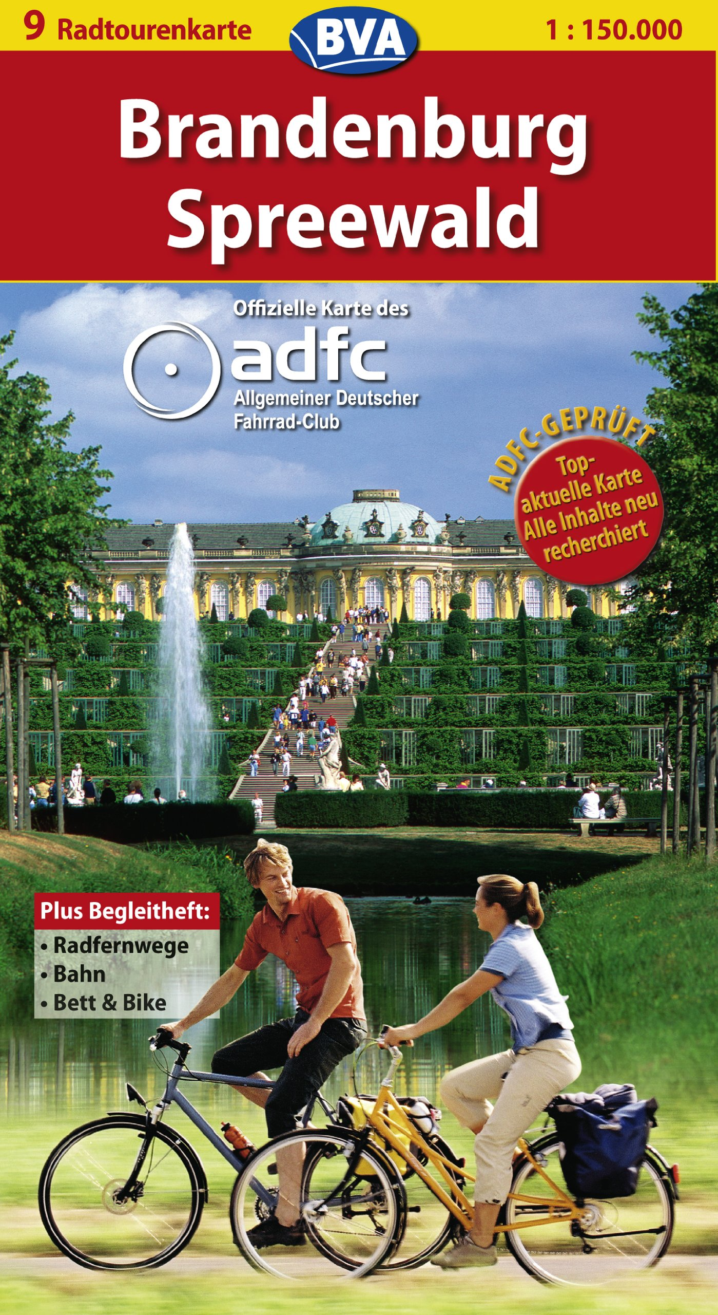 Brandenburg /Spreewald: ADFC-Radtourenkarte 1:150.000