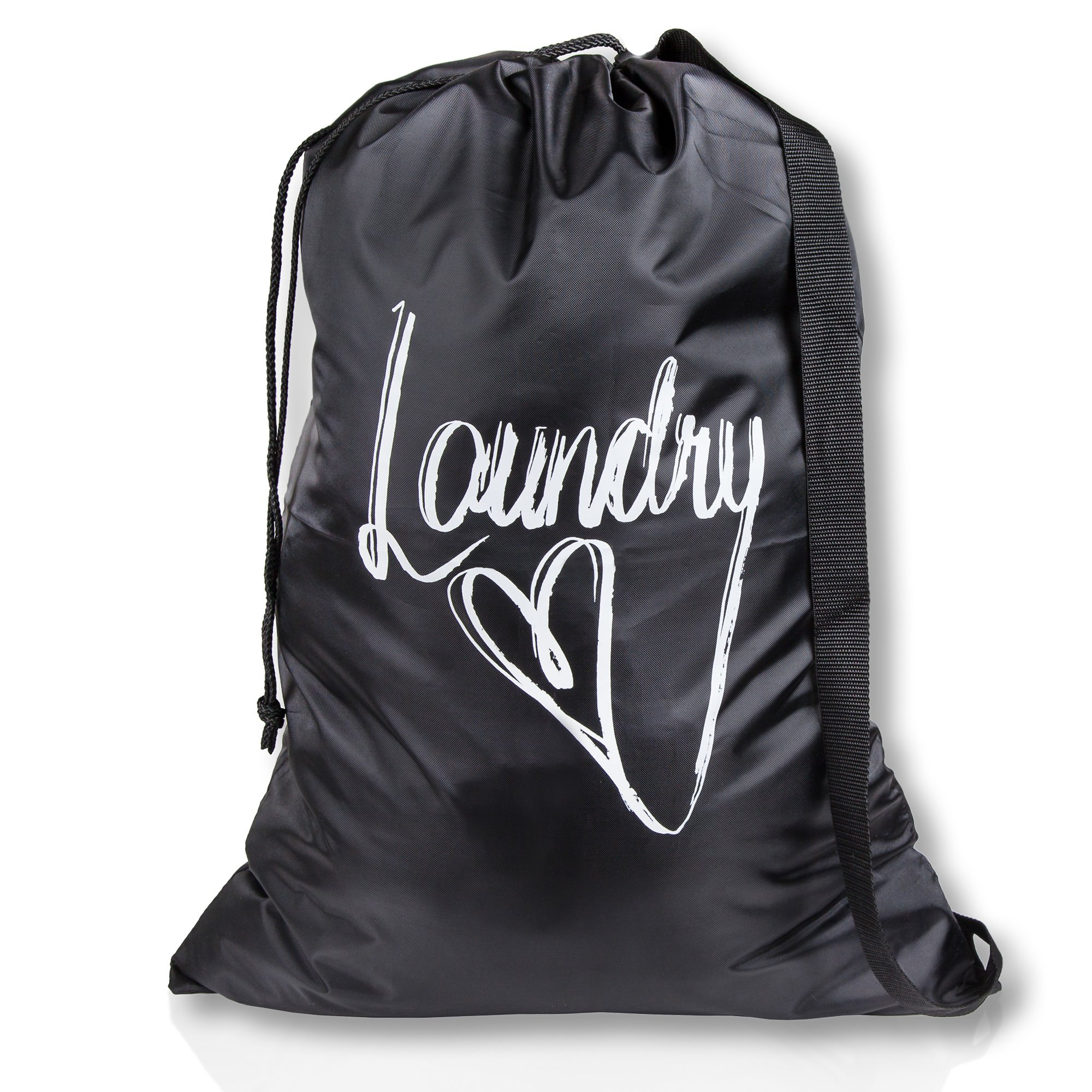 Wajt Najt Best Laundry Bag College Student Gifts Size 20x28 for College Dorm Room and Households Design By Anna Ileby