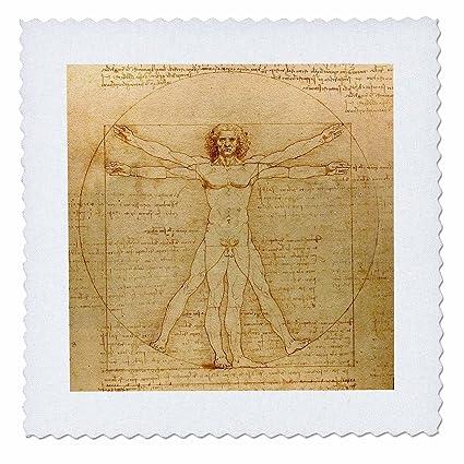 Buy 3dRose qs_155633_10 Vitruvian Man by Leonardo Da Vinci 1490-Fine ...