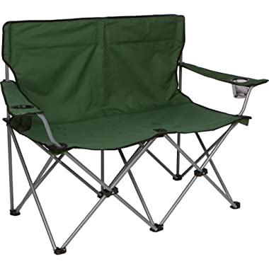 Trademark Innovations 31.5 H Loveseat Style Double Camp Chair with Steel Frame