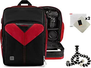 WG 4 Vangoddy Sparta Travel Nylon Backpack Bag WG 4 GPS Compact DSLR Camera and Screen Protector and Mini Tripod for Ricoh WG 20 Black, Gray