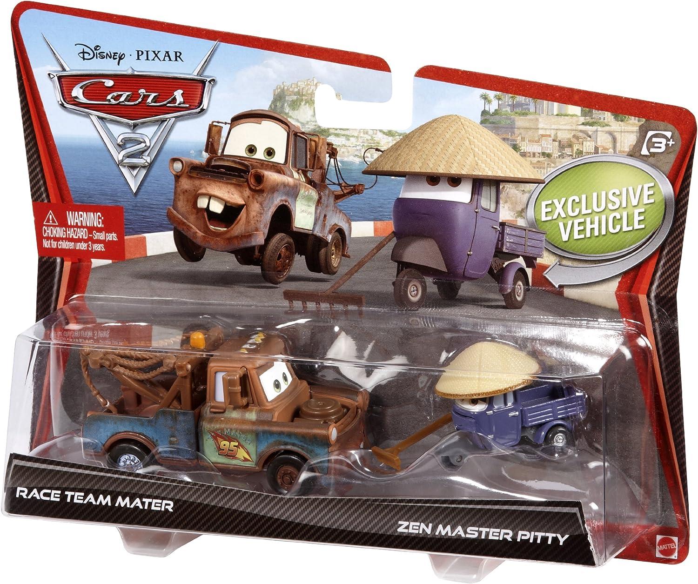 Disney Mattel Cars 2 - Juego de Coches en Miniatura (Mate y Pitty): Amazon.es: Juguetes y juegos