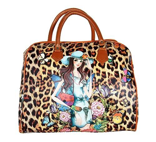 396ad3e5b FabSeasons PU Digital Printed Large Handheld Bag: Amazon.in: Shoes &  Handbags