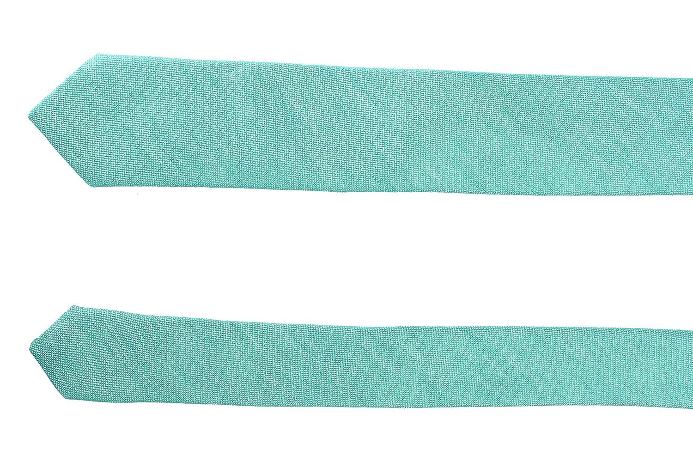 Hugo Boss Mens Green Linen Silk Tie