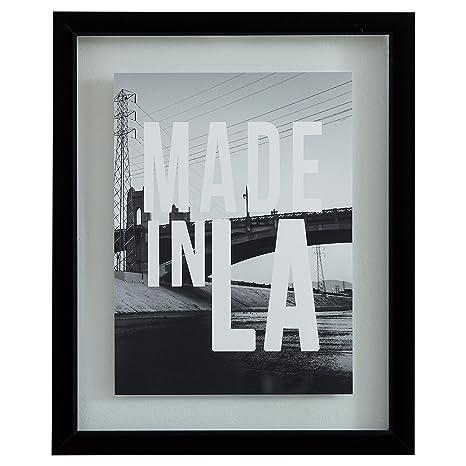Amazon.com: Rivet Made in LA Black and White Print in Black Frame ...