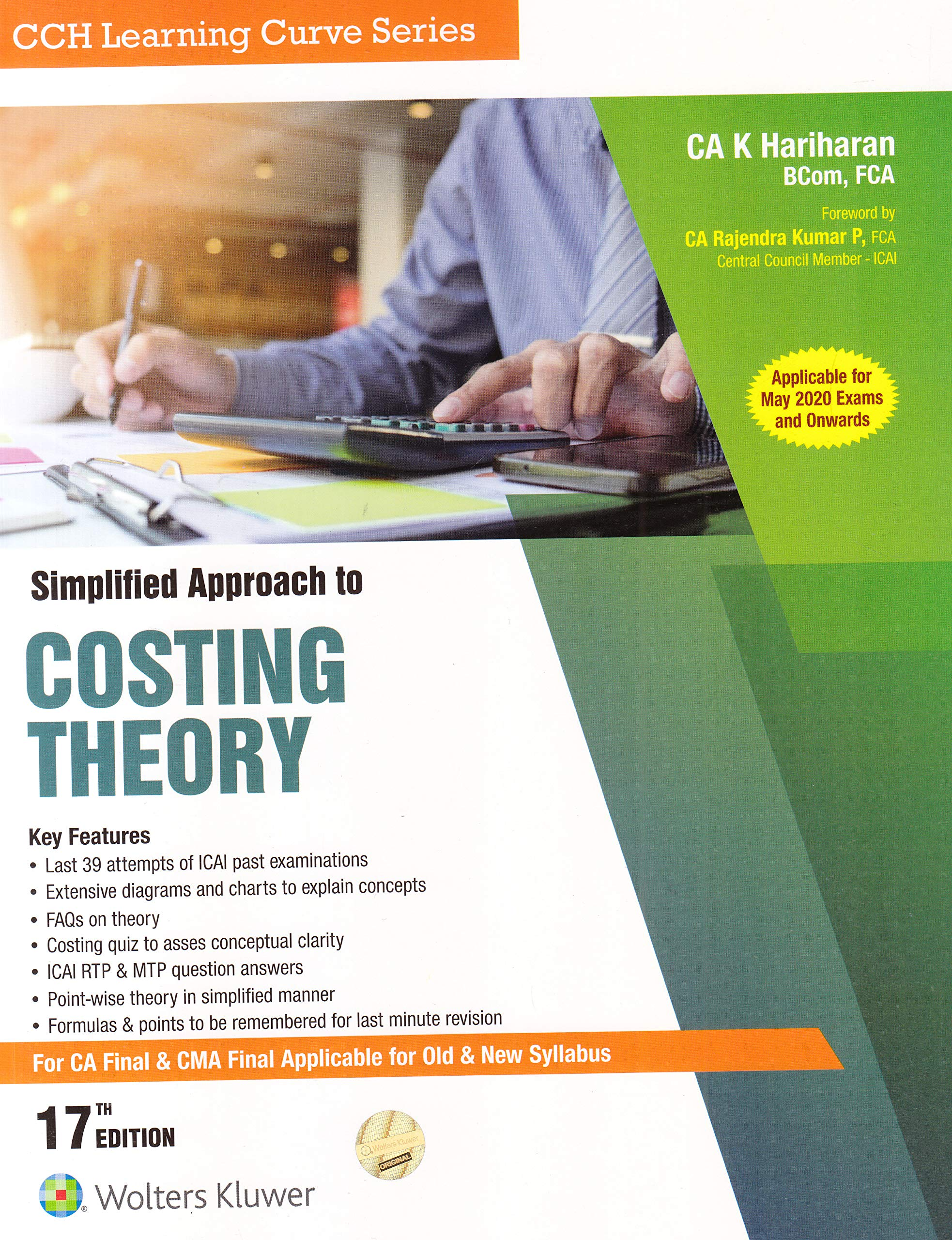 Simplified Approach To Costing Theory (For Ca Final & Cma Final Applicable For Old & New Syllabus) Of 17Th Edition