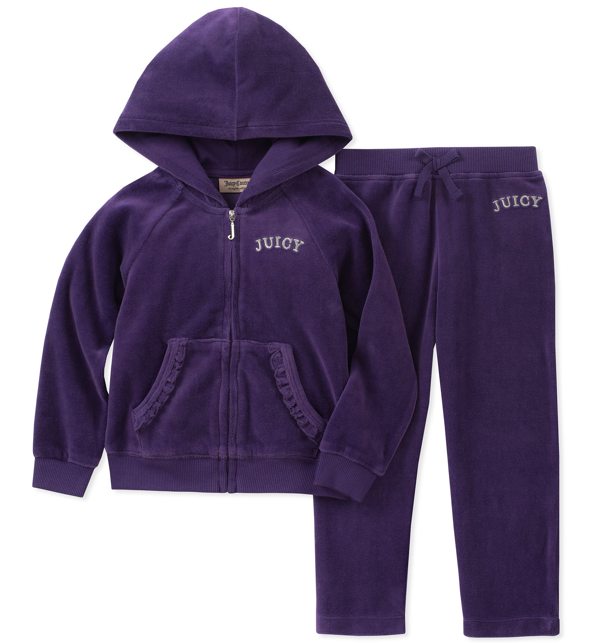 Juicy Couture Girls' 2 Pieces Jog Set-Velour