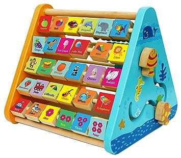 Towo Wooden Activity Centre Triangle Toys Wooden Alphabet Blocks