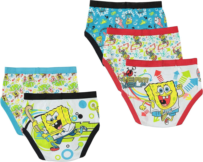 Underwear Pack of 5 Nickelodeon Boys Spongebob Brief