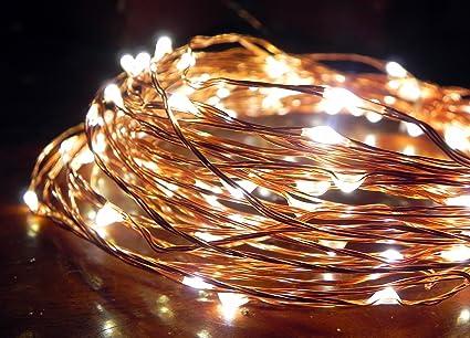 Amazon.com : Norsis Fairy Lights - Flexible Copper Wire Starry ...