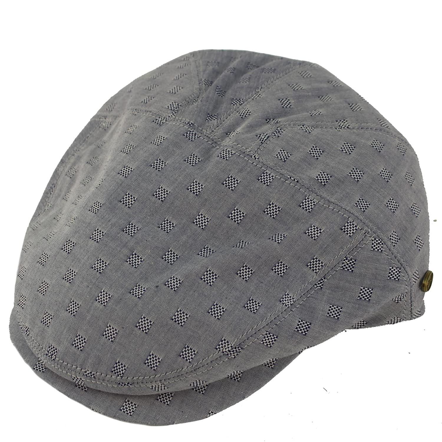 Epoch Men s 100% Cotton 7 Panel Ivy Mixed Pattern Driver Cabby Flat Cap Hat  at Amazon Men s Clothing store  ef32495b6caf