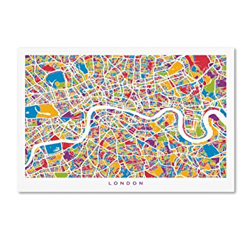 Trademark Fine Art United Kingdom I by Michael Tompsett Canvas Wall Art Kids' Furniture, Décor & Storage 30 x 47-Inch