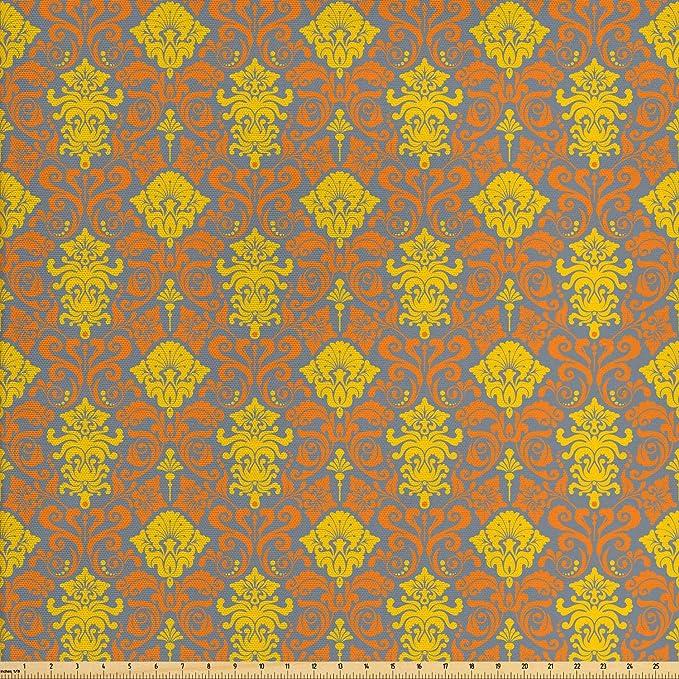 Damascos mantel antiguedad barroco de curvas de impresión digital