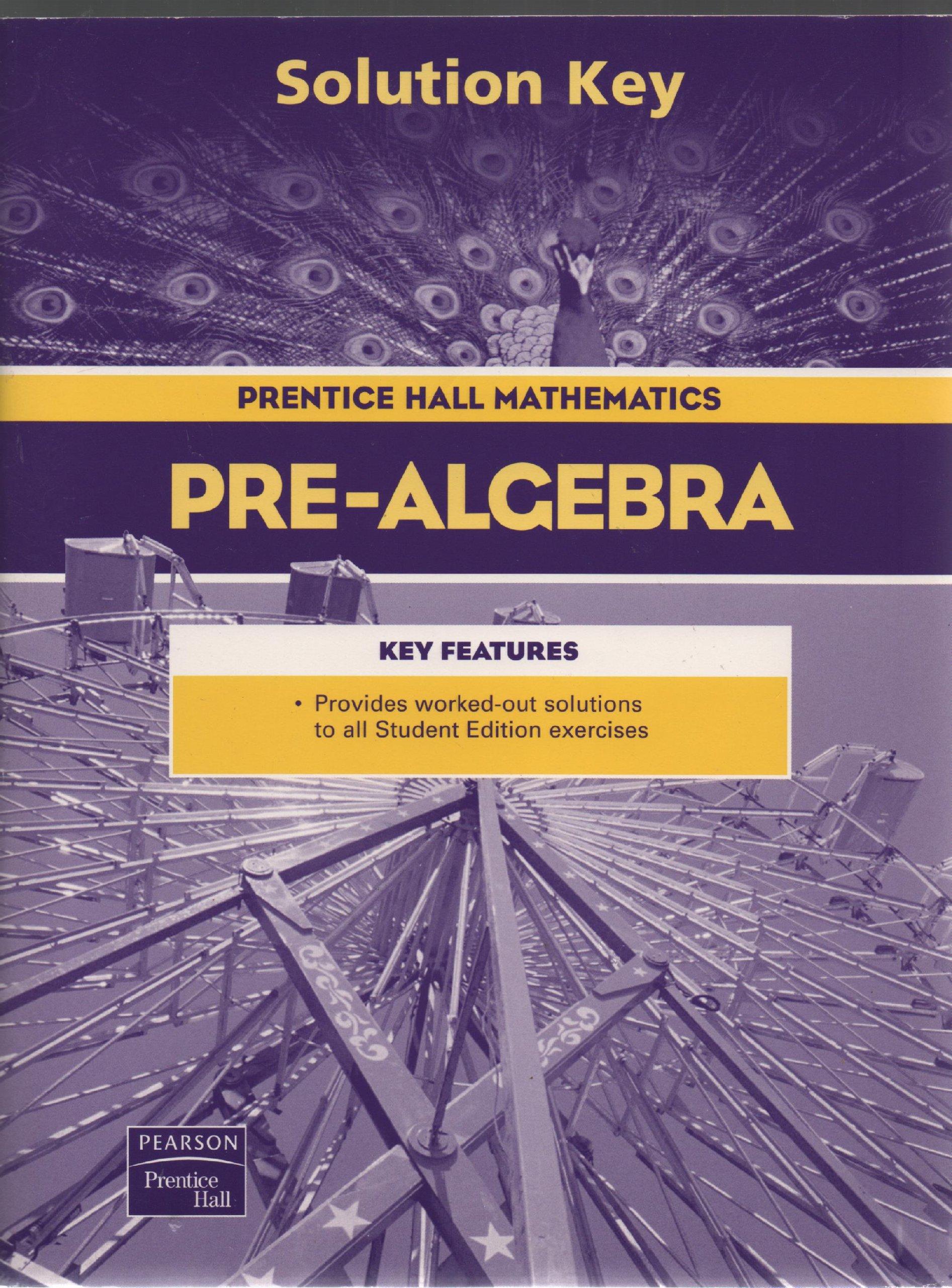 Prentice Hall PreAlgebra Solution Key Pearson Prentice Hall – Pearson Prentice Hall Math Worksheet Answers