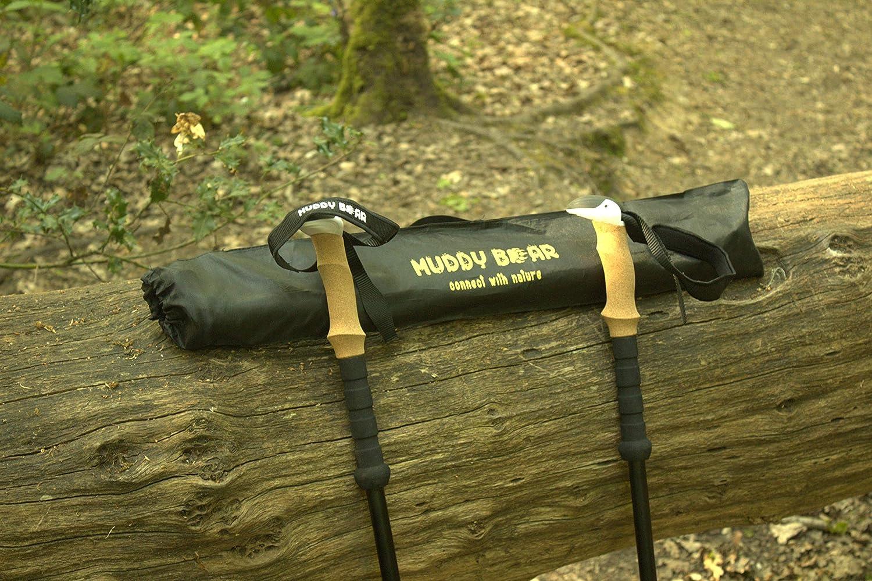 2-pc Pack Adjustable Hiking Stick Aluminum 7075 stronger than carbon fiber cork grip Walking Poles MUDDY BEAR Ultra Lightweight Trekking Poles