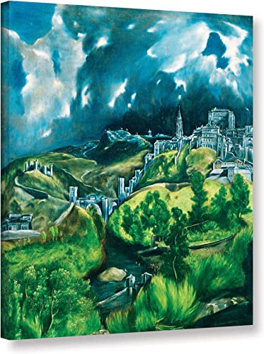 The ArtWall 1gre004a0810w El Greco View Of Toledo Gallery-Wrapped, 08X10 , Canvas Artwork