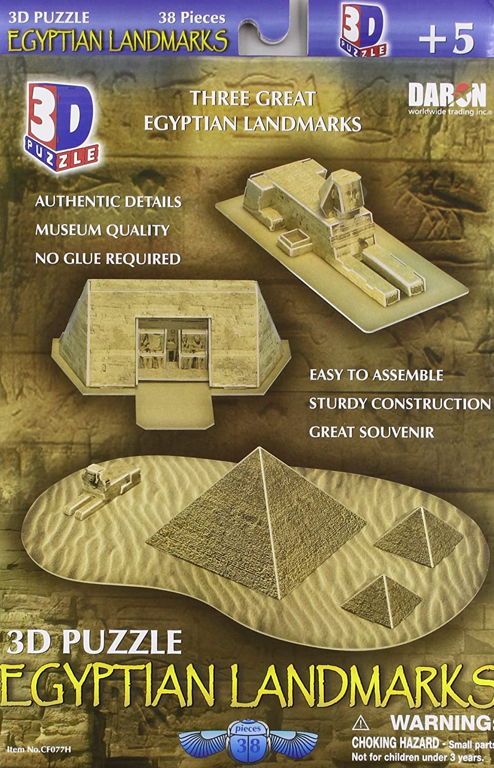Daron Egyptian Pyramids 3D Puzzle 38-Piece Daron World wide Trading Inc. CF077H