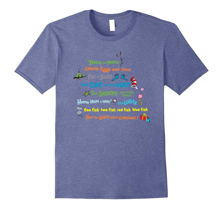 Dr. Seuss Book Title T-shirt-alottee gift