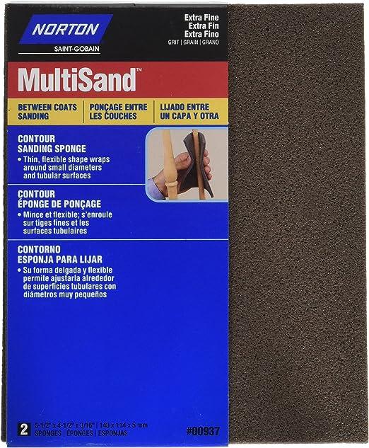 Norton 82083 220 Grit 5X Contour Sanding Pad 2 Count