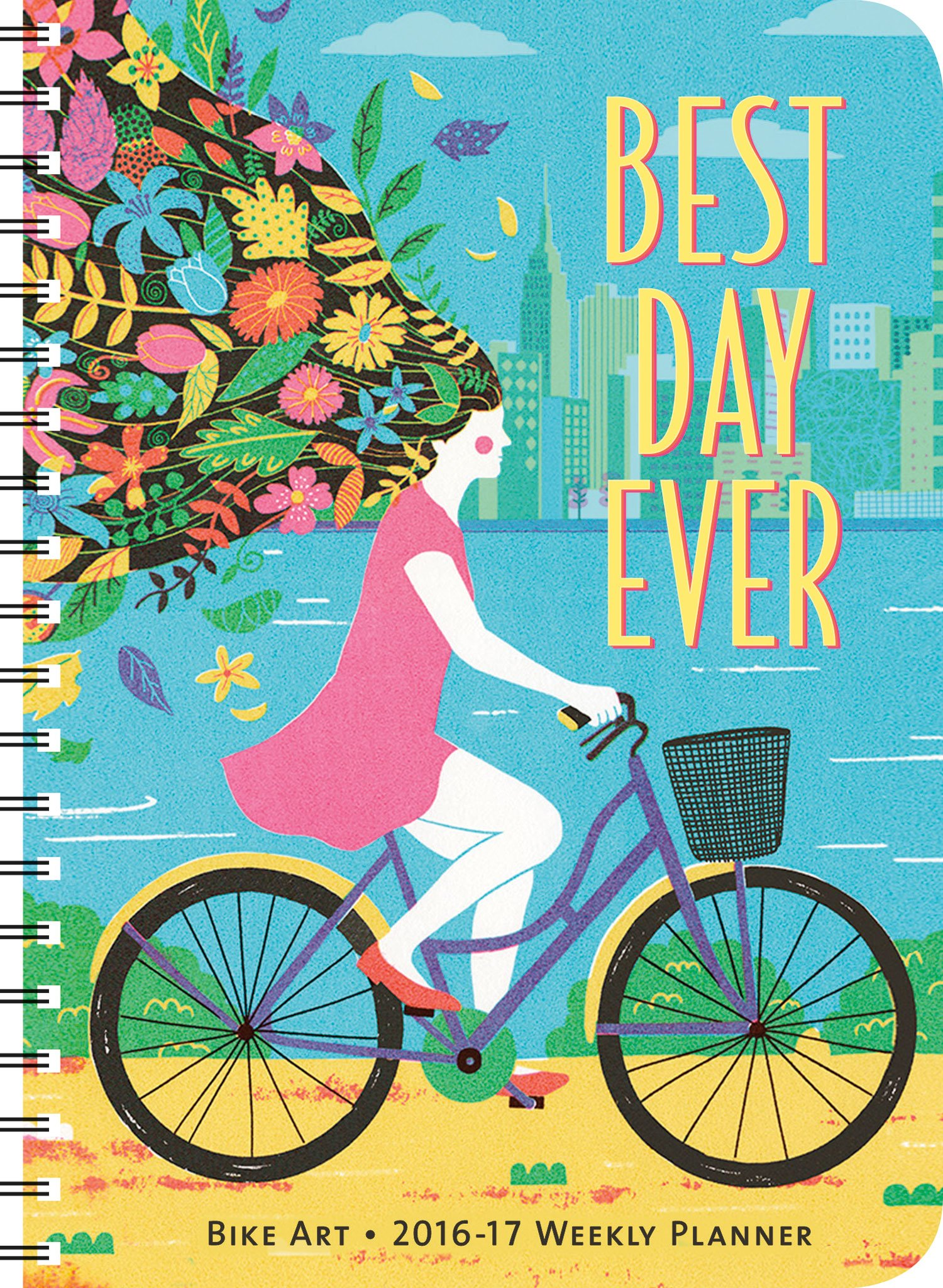 Bike Art 2016 – 2017 On-the-Go Weekly Planner: 17-Month Calendar with Pocket PDF