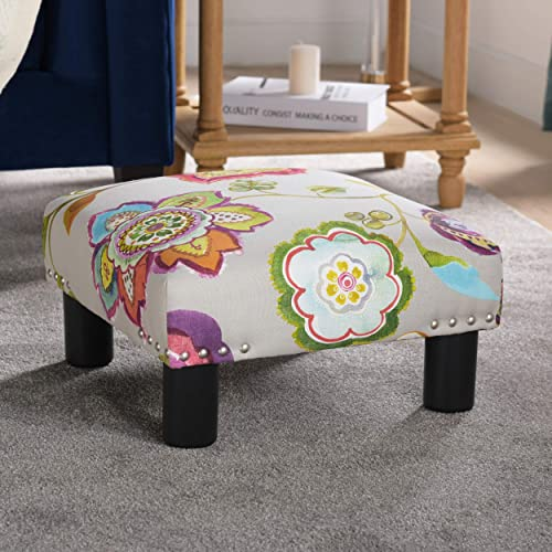 Jennifer Taylor Home Jules Collection Contemporary Nailhead Trim Accent Ottoman Bench