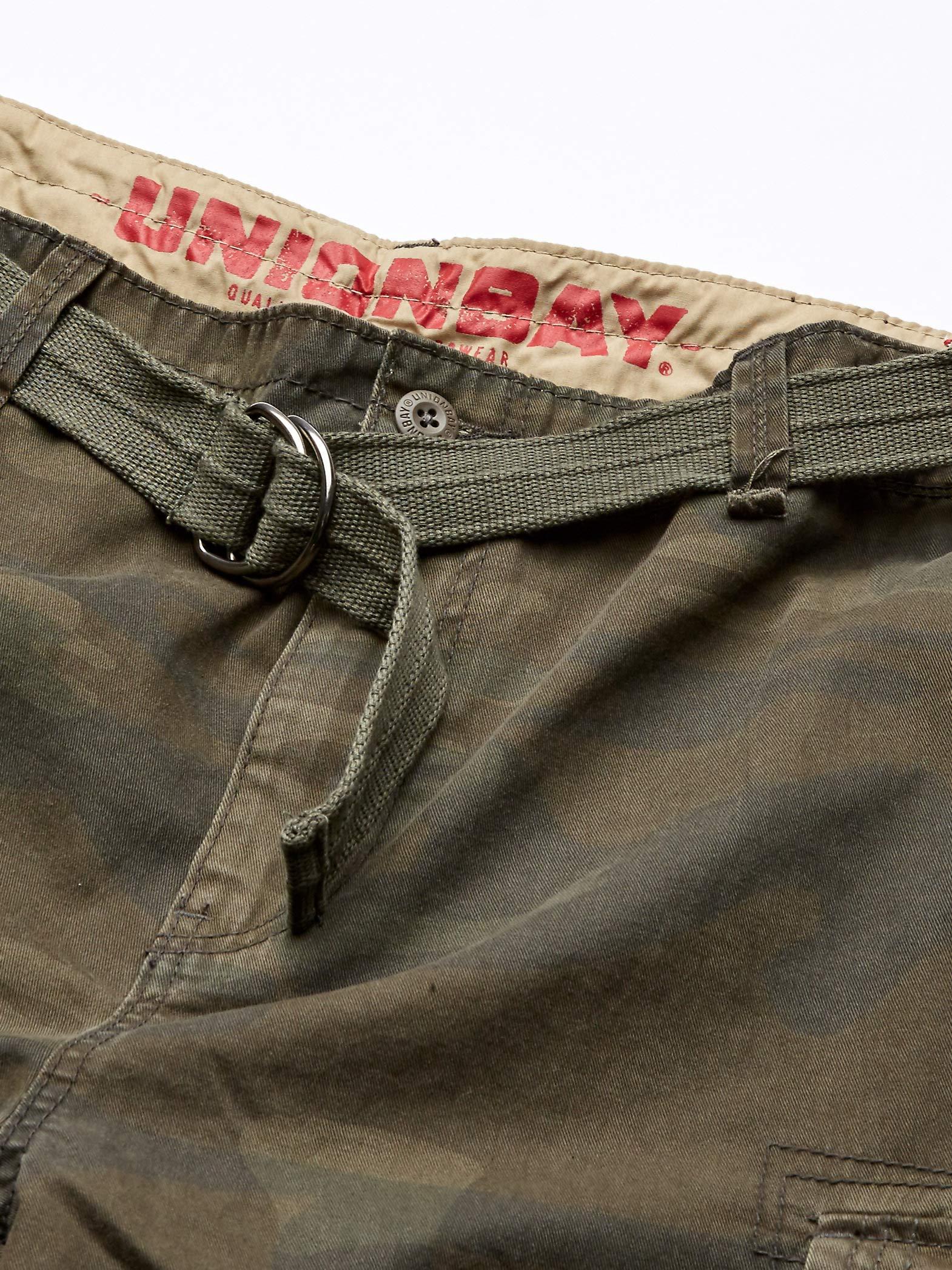 UNIONBAY Men's Survivor Belted Cargo Short-Reg and Big & Tall Sizes