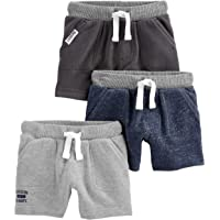 Simple Joys by Carter's Bebé Niños shorts de algodón, Pack de 3