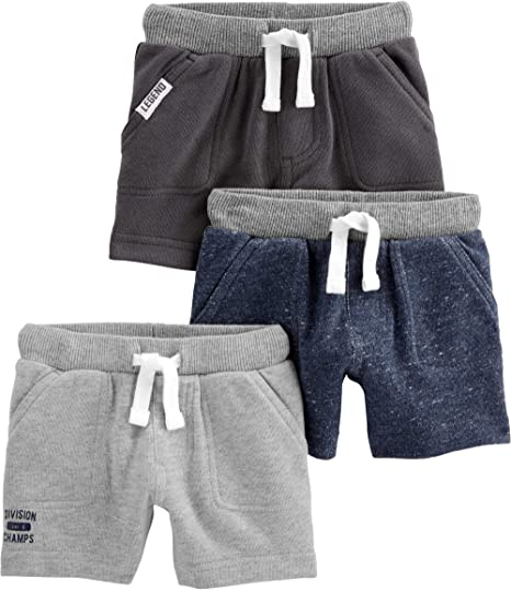 Simple Joys by Carters Baby-Boys 3-Pack Knit Shorts Pack of 3