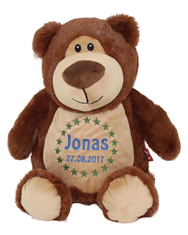 Teddybär braun personalisiert für Geburt Taufe Geburtstag 40cm