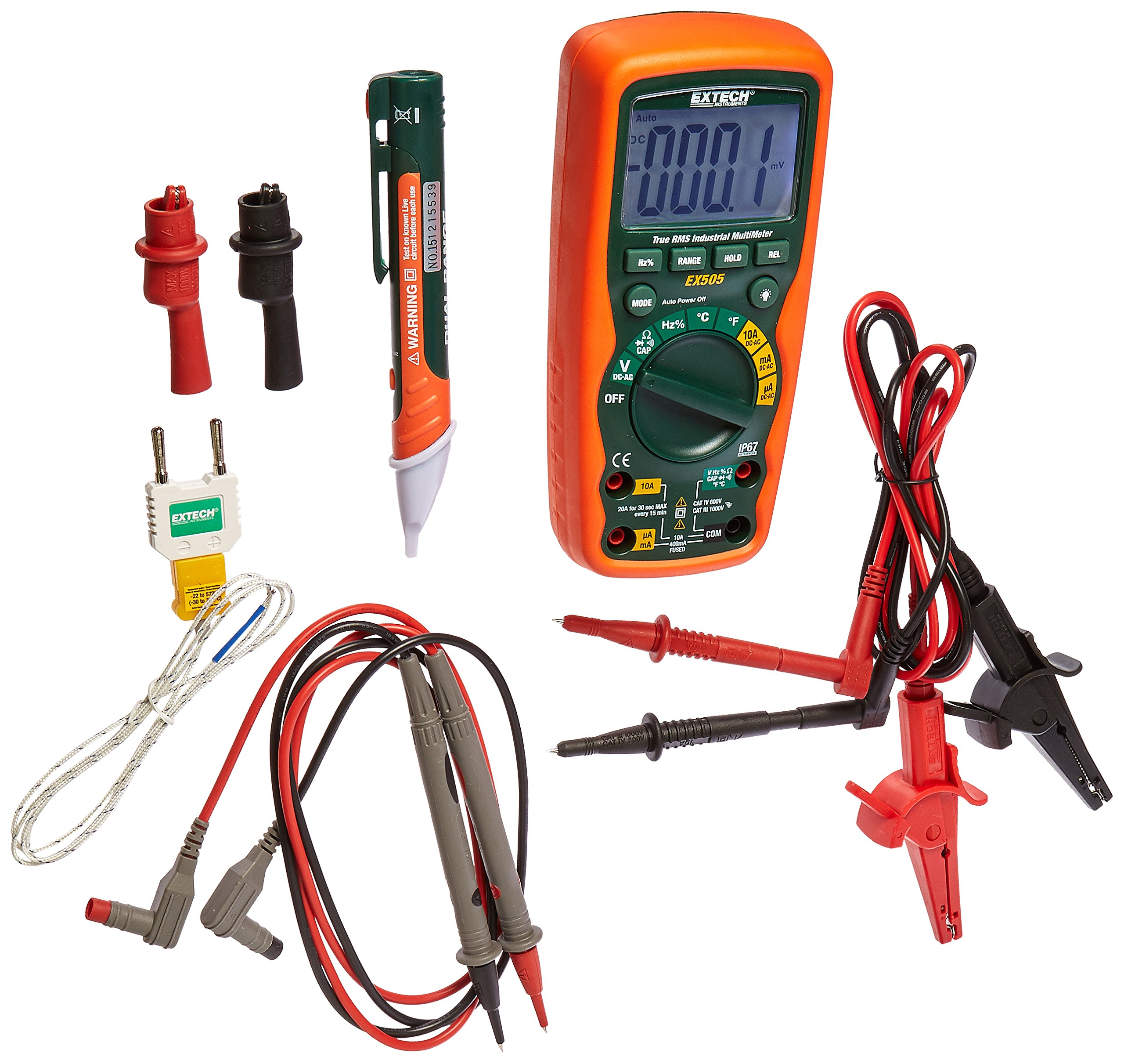 Extech EX505-K Heavy Duty Industrial Multimeter Kit by Extech