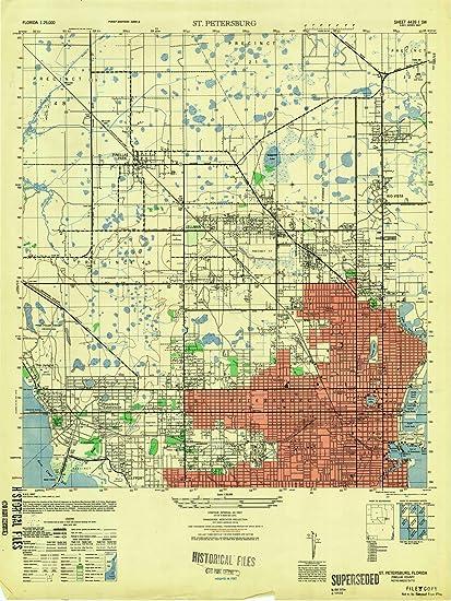 St Pete Florida Map.Amazon Com Florida Maps 1947 St Petersburg Fl Usgs Historical