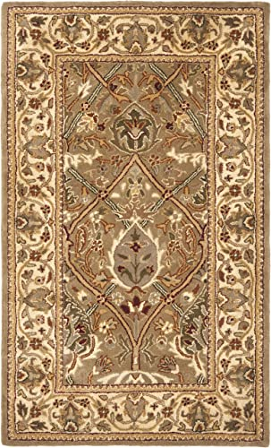 Safavieh Persian Legend Collection PL819A Handmade Traditional Light Green and Beige Wool Area Rug 3' x 5'