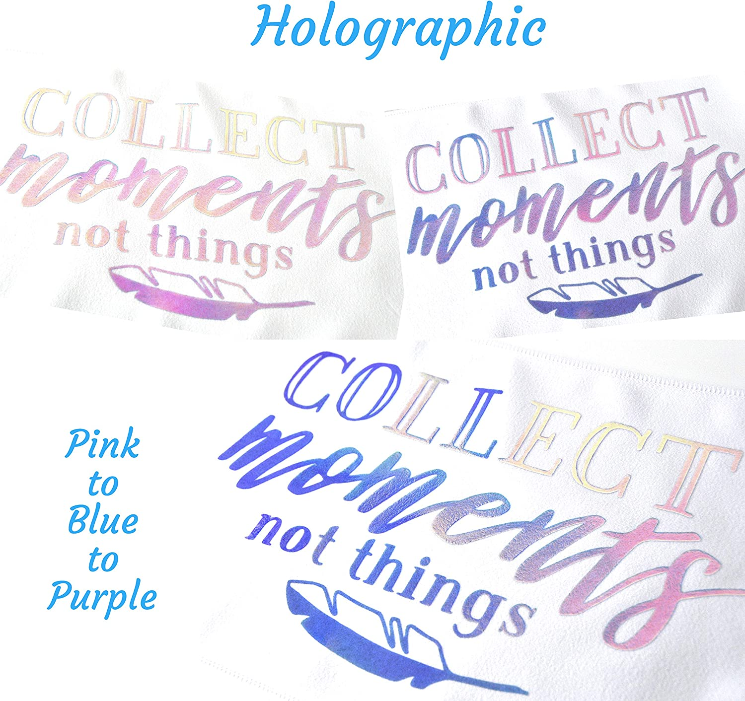 Aqua Blue Stardust Co.s Holographic and Reflective Heat Transfer Vinyl Safe Around Children HTVvinyl CPSIA Certified Holographic Vinyl 11.4X9.8 Bundle of 4 Iron on Vinyl