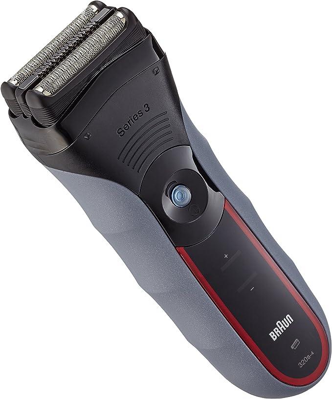 Braun Series 3-320 - Afeitadora (Papel aluminio, Negro, Rojo ...