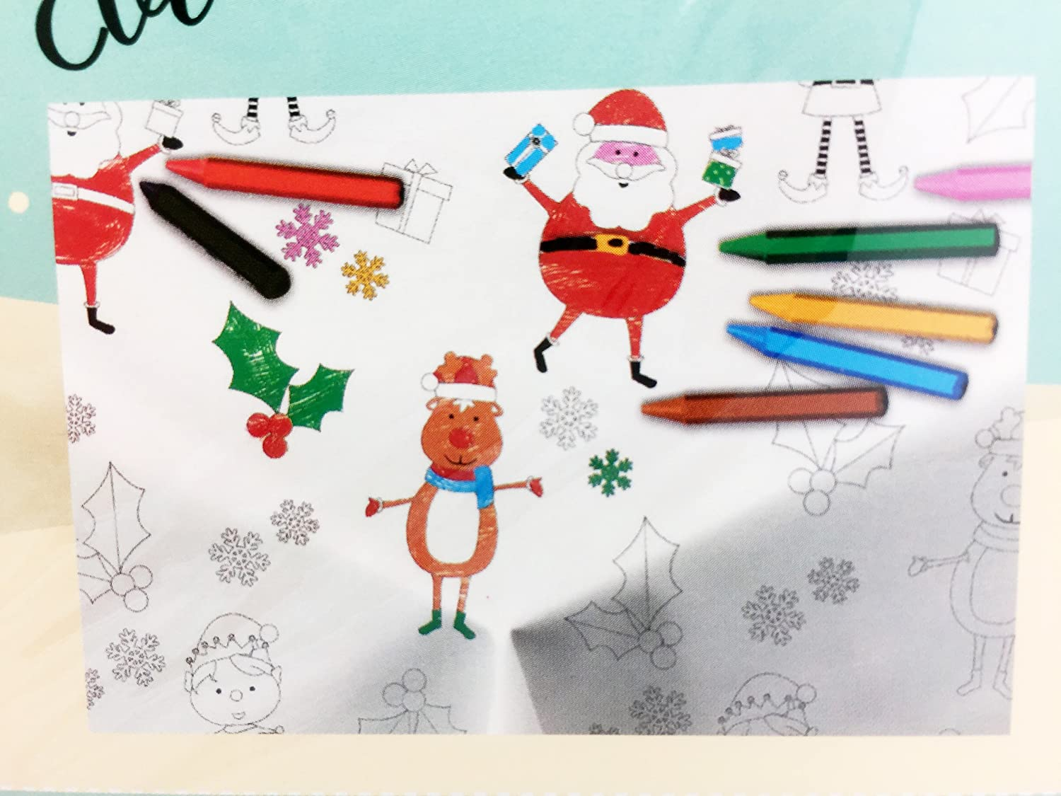 Colour Your Own: Christmas Table Cloth - kids colouring-in activity - Swan household ®