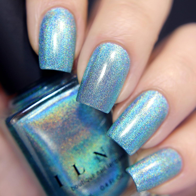 Amazon.com : ILNP Aria - Sky Blue Ultra Holographic Nail Polish ...