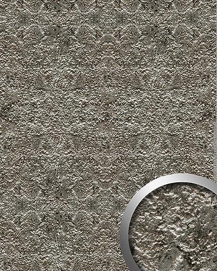 Panel decorativo WallFace 14804 LAVA Autoadhesivo de diseño piedra y efecto metal color gris roca y