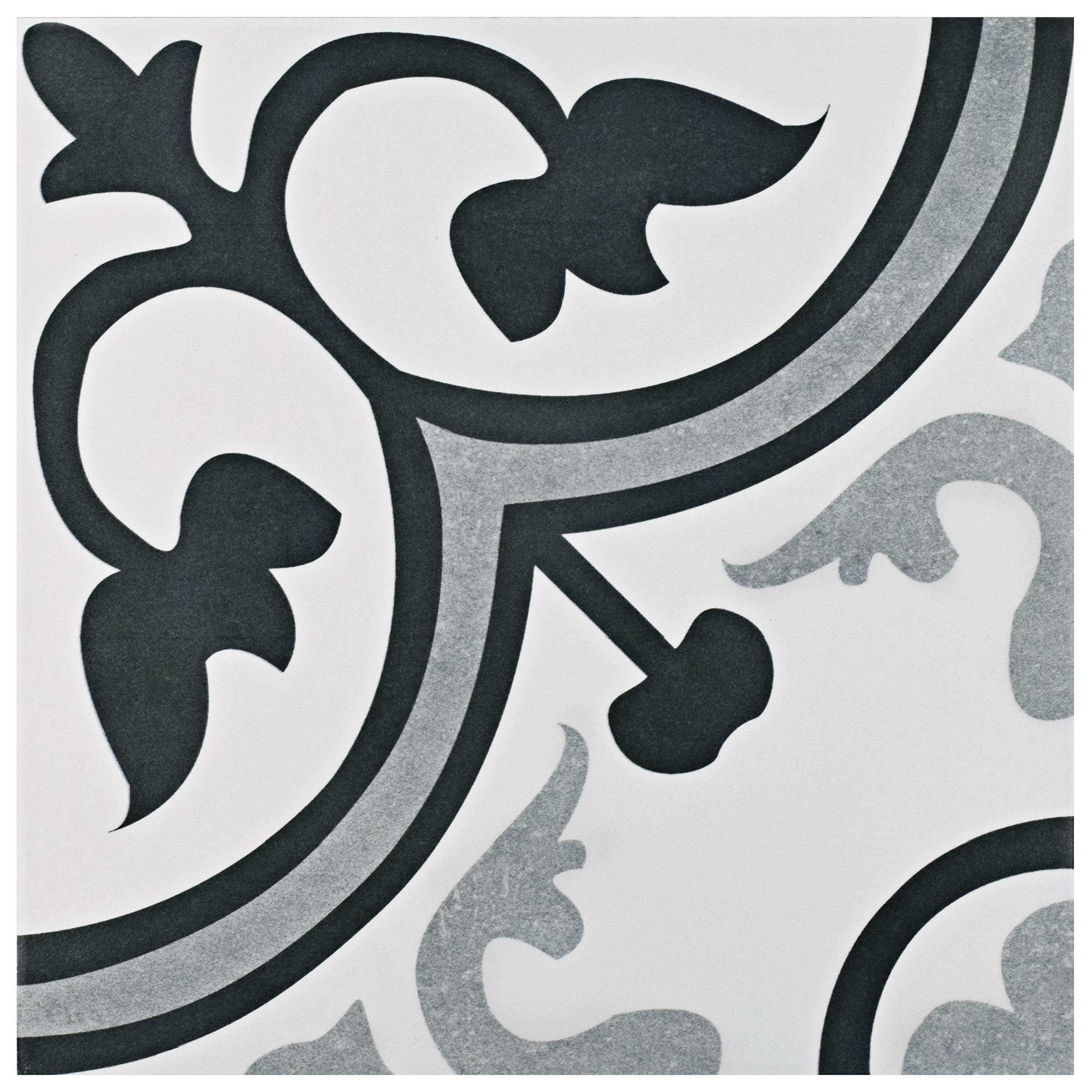 SomerTile FCG12AMB Canton Ceramic Floor and Wall Tile, 12.38'' x 12.38, Pack of 10 by SOMERTILE
