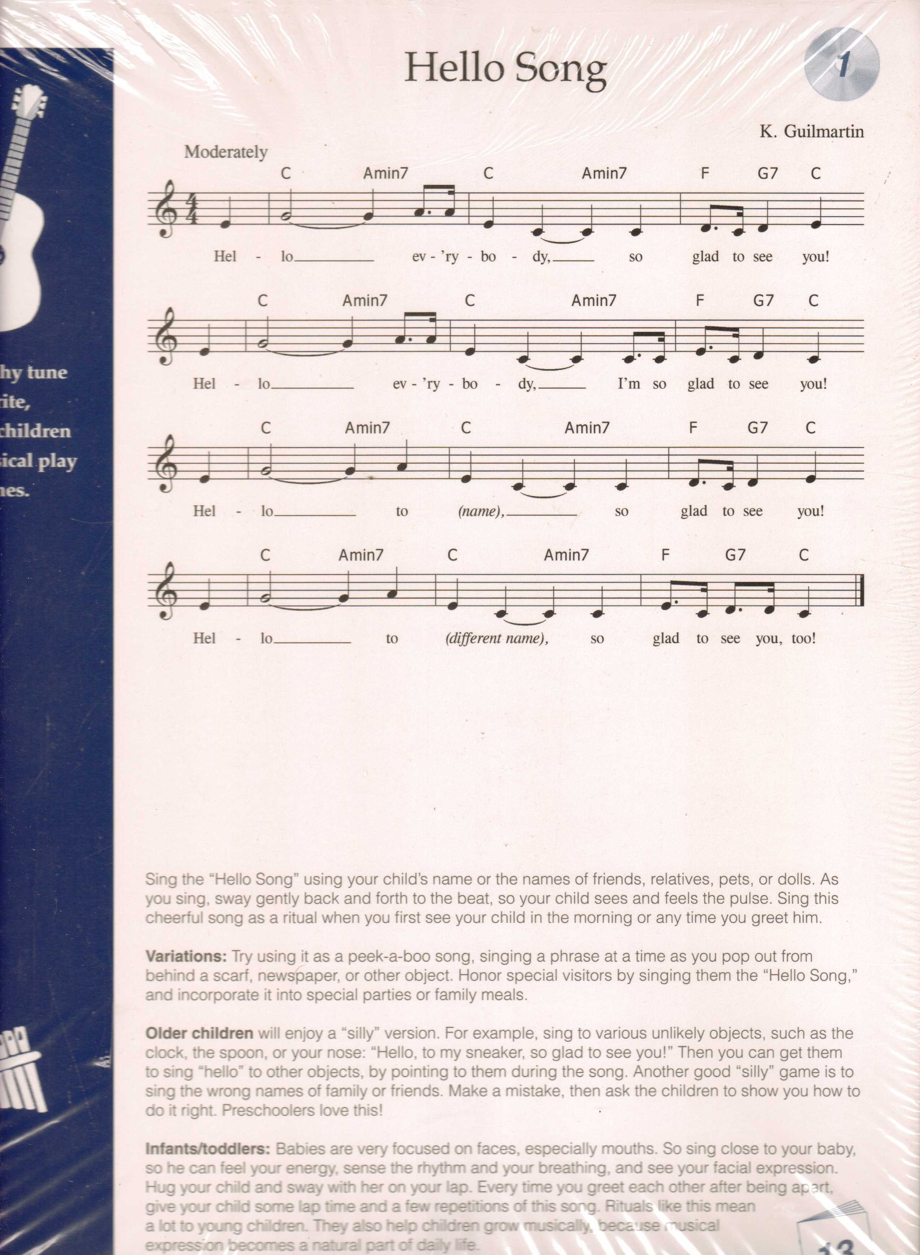 """Download """"Hello Song"""" Preschool SongCards for Music Together: Flute pdf"""