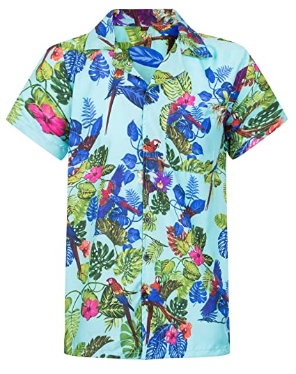 736aa2ad174 Parrot Shirt Hawaiian Shirt Mens Loud Aloha Casual Toucan Stag Beach Party  S-XXL  Amazon.co.uk  Clothing